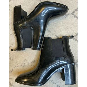 JEFFREY CAMPBELL Heeled Rubber Ankle Boots Booties